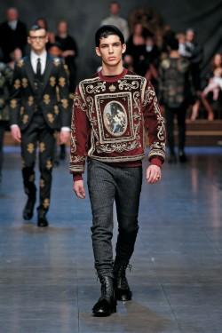une homme -icone de Dolce & Gabbana hiver 2016